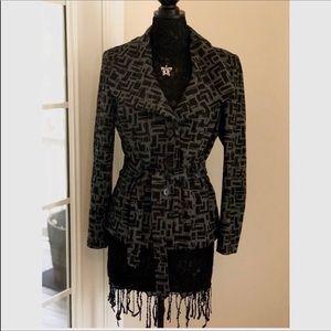 Gray and Black Pea Coat